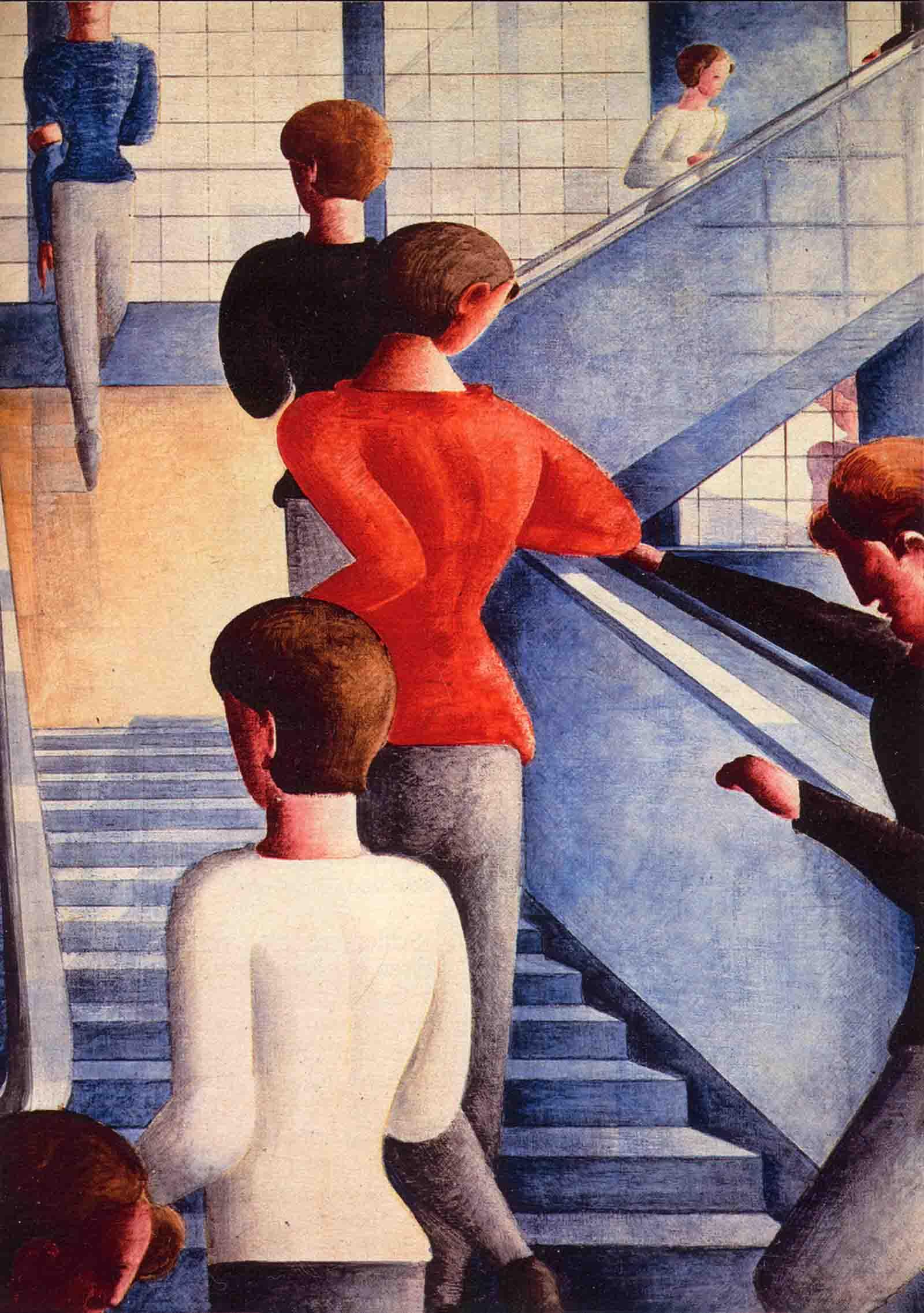 バウハウスの階段(油彩)